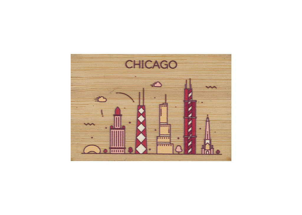 Chicago Magnet Bamboo
