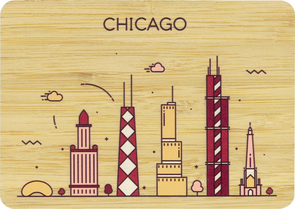 Chicago Postcard Bamboo