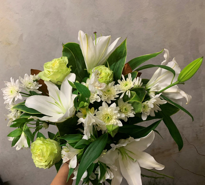 Florist Choice in Green and Whites