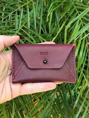 Burgundy card case