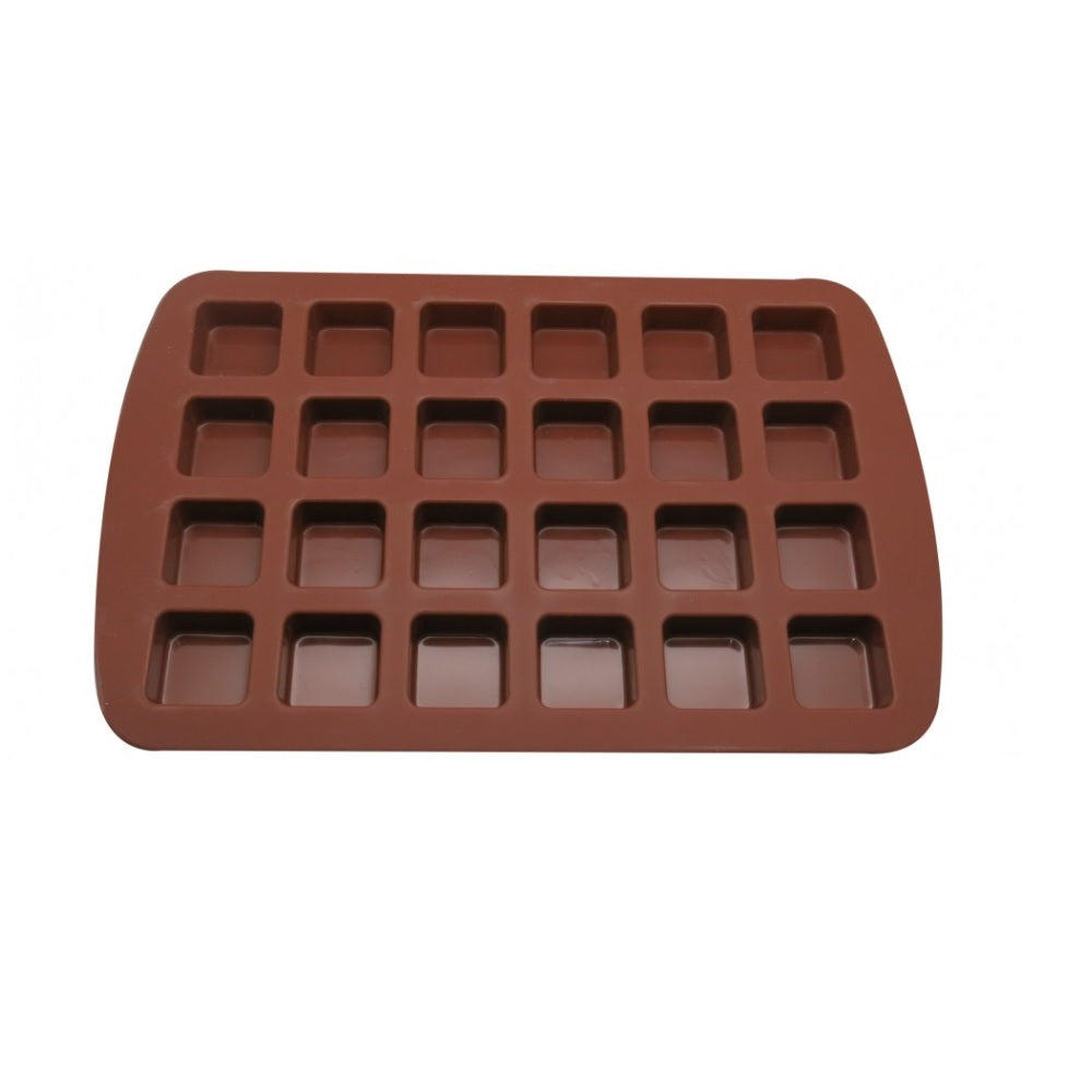 Molde Silicona Mini Brownie x24 cav