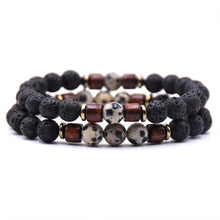 Load image into Gallery viewer, Natural Lava Stone Beads Bracelet