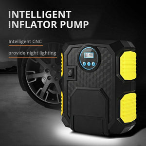 12V PORTABLE DIGITAL CAR TIRE INFLATOR (AIR COMPRESSOR)