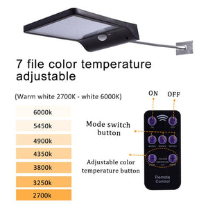 Solar Panel with 48 LED (Motion Sensor or Remote Control)