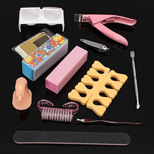 NAIL ART TOOL SET W/ UV GEL DRYER LAMP