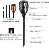 SOLAR FLAME FLICKERING TORCH LAMP