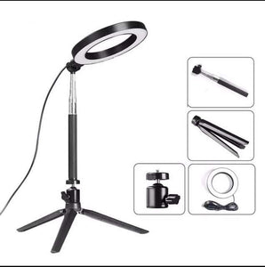 SELFIE RING LIGHT + TRIPOD STAND