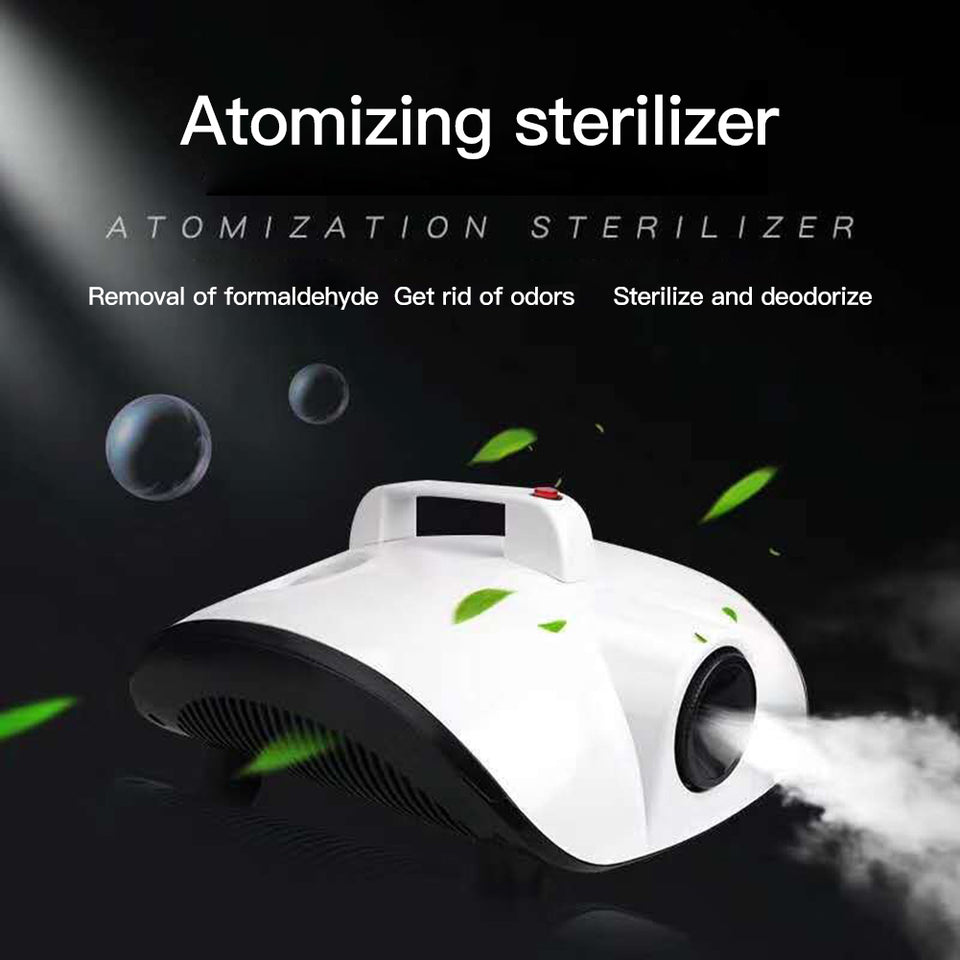 900W ATOMIZING FOR MACHINE WITH FREE 100ML DISINFECTANT FOG LIQUID