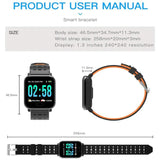 Smart Watch (Fitness and Health Tracker) - Black only