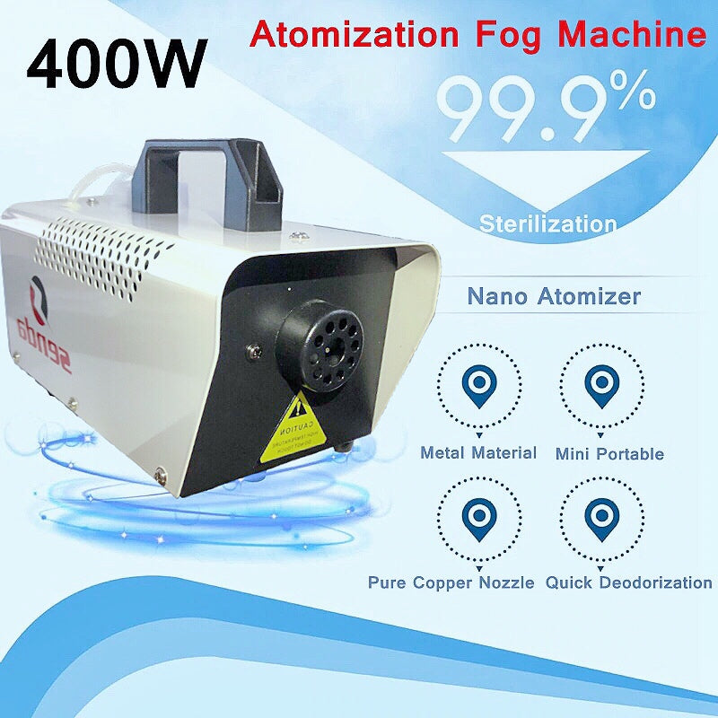 400W ATOMIZATION FOG MACHINE (FREE 100ML DISINFECTANT FOG SOLUTION)
