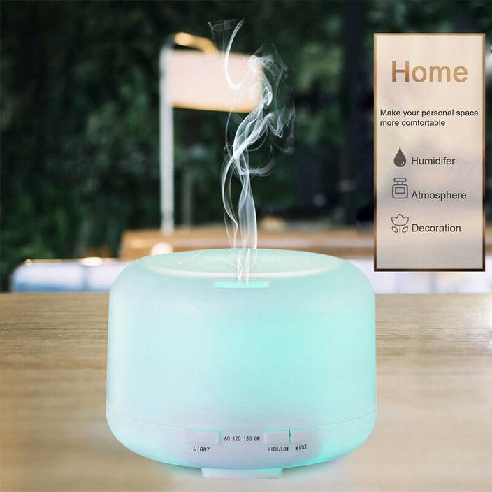7 LED Color Ultrasonic Air Humidifier (White)