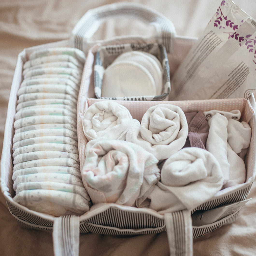 Blush Pink Baby Diaper Caddy
