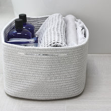 Load image into Gallery viewer, Woven Storage Basket Bins Set of 2