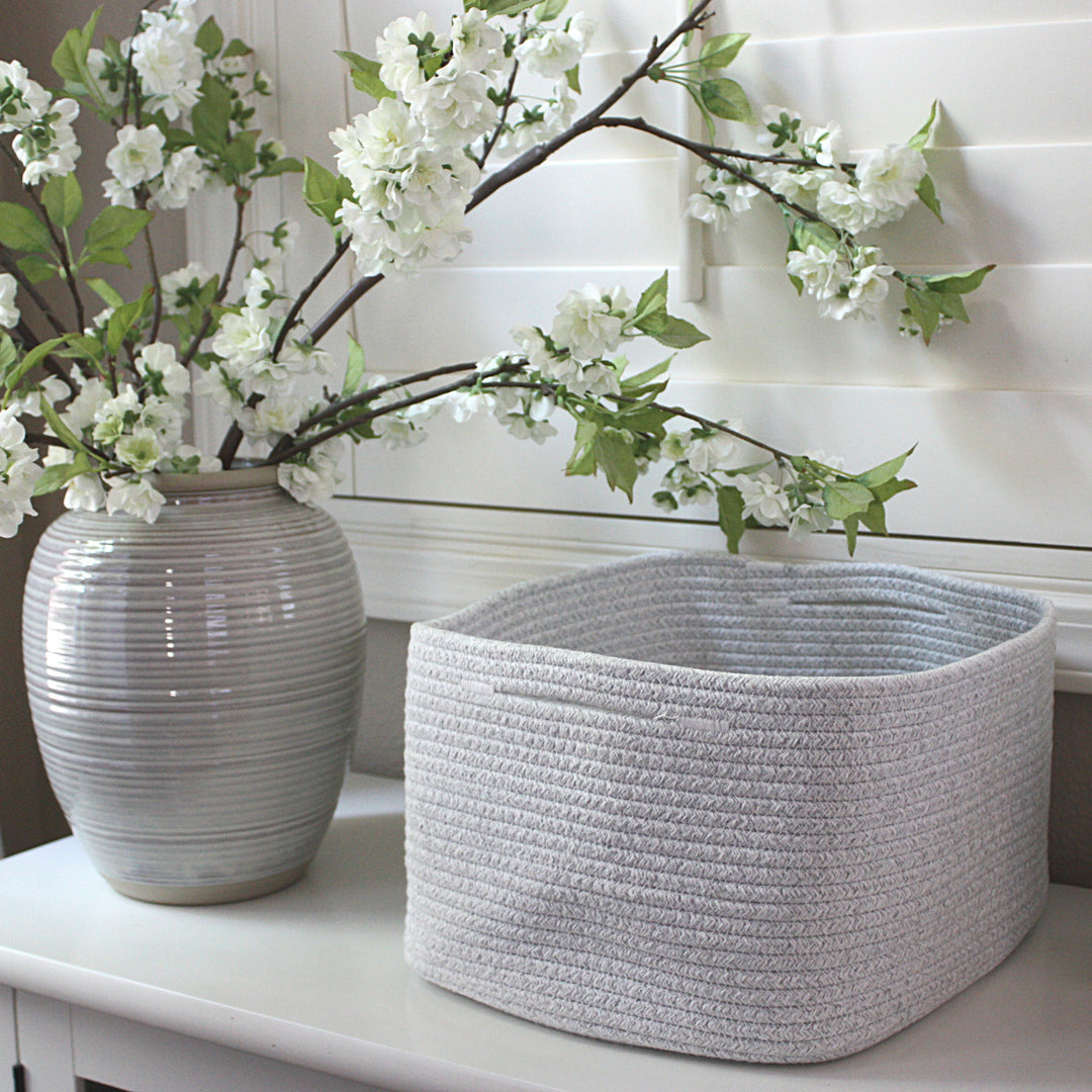 Woven Storage Basket Bins Set of 2