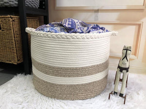Cotton Rope Basket for Blankets or Toys