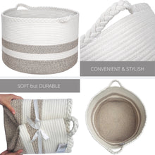 Load image into Gallery viewer, Cotton Rope Basket for Blankets or Toys