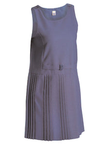 Navy Pinafore- Semi pleated