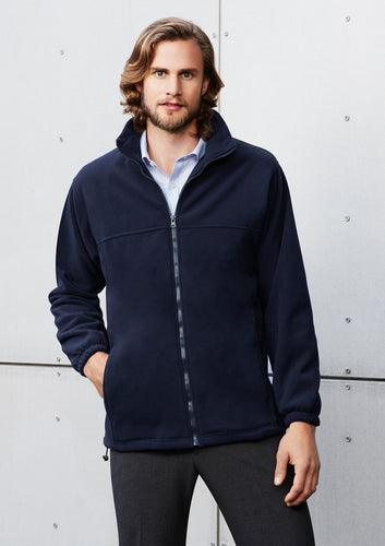 Mens Plain Micro Fleece Jacket