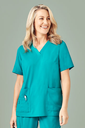 WOMENS EASY FIT V-NECK SCRUB TOP