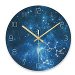 Horloge Moderne Bleu Constellation