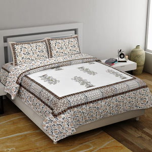 Bedding Blues Printed Bedsheet (100*108)