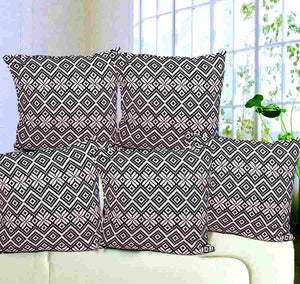 ROYAL Pure Cotton Cushion Cover (set of 5)