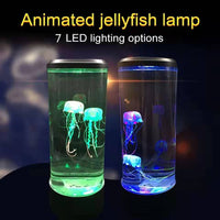 Boaz Smart jellyfish LED Night light Novelty Children Night Lamp Table Lamp bedroom colorful atmosphere light Home Decoration