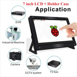7 Inch HDMI TFT Touch Screen LCD Display Monitor HD 1024x600 for  Raspberry Pi 3 Model B + Pi 4 Computer TV Box DVR Game Device