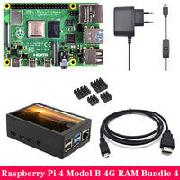 Original Raspberry Pi 4 Model B 2GB 4GB RAM with 3.5 inch TFT Touch Screen LCD Power Supply Heat Sink for Raspberry Pi 4B Pi4 B