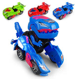 Deformation Electric Dinosour Car Toy UniveRSal Wheel Transformation Robot Vehicle With Lights Sounds Gift for Kid(Random Color)