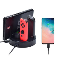 LED Nintend Switch Controller Charger Charging Dock Station For Nintendos Swicth Joycon NS Pro Controller For Switch Console