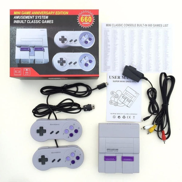 Super Famicom NES Mini Classic Nintendo Trendz2020 SFC TV Video Handheld Game Console Entertainment System Built-in 660