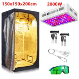 Grow Tent Room Complete Kit 1000W 2000W LED Grow Light+Multiple Size Grow Tent Combo Hydroponic Growing System for Indoor Plants