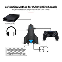 Gamepad Controller Converter For PS4 For XBOX For ONE For SWITCH Keyboard Mouse Adapter Game Handle With Customized Button