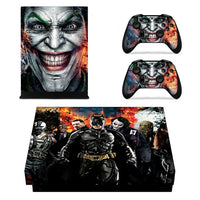 DC Film The Joker Full Faceplates Skin Console & Controller Decal Stickers for Xbox One X Console + Controller Skin Sticker