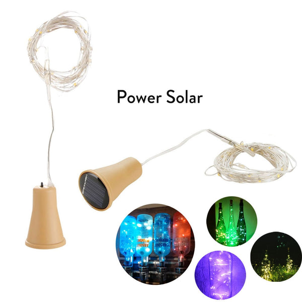 10LED/15LED/20LED Garland Solar Wine Bottle Lights Solar Cork Fairy Lights Christmas Light LED Copper Garland Wire Fairy String