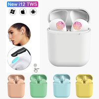 i12 tws Matte Bluetooth Earphone Air Wireless Earbuds Hands free for iphone 11 Earpieces Sport Headset Bluetooth music Earphone