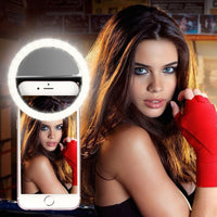 Selfie Ring Mobile Phone Clip Lens Light Lamp Litwod Led Bulbs Emergency Dry Battery For Photo Camera Well Smartphone Beauty