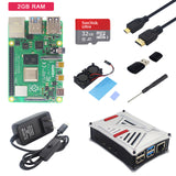 Original Raspberry Pi 4 Model B Kit 1/2/4GB RAM+ABS Case+Dual Fan+Power Adapter+Micro HDMI Cable+SD Card for Raspberry Pi 4B