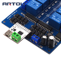 16 Channel 5V USB Control Switch USB Control Relay Module Computer Control Switch Board