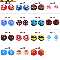 1Pair=2PC High quality Avengers Mario Elf ball Colorful Silicone Thumb Stick Grip Joystick Cap Cover For Nintendo Switch Joy-Con