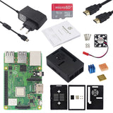 Raspberry Pi 3 Model B Plus + ABS Case Enclosure + 3.5 inch Touch Screen LCD + Power Supply Adapter for Raspberry Pi 3B +