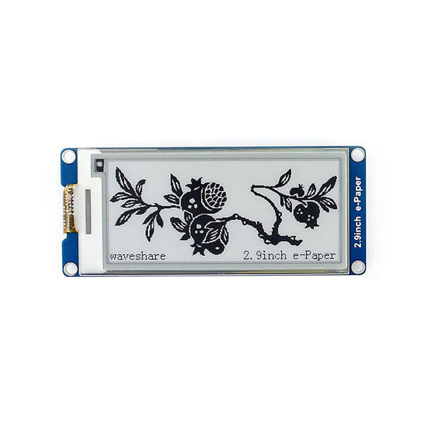 2.9 Inches Electronic Industry Low Power Epaper Screen Durable SPI Interface E-ink Display Module Two-Color For Raspberry Pi