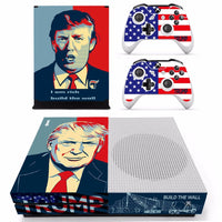 New Skin Sticker Decal For Xbox One S Console and 2 Controllers For Xbox One Slim Skins Sticker - Donald Trump
