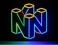 Custom Nintendo 64 Glass Neon Light Sign Beer Bar
