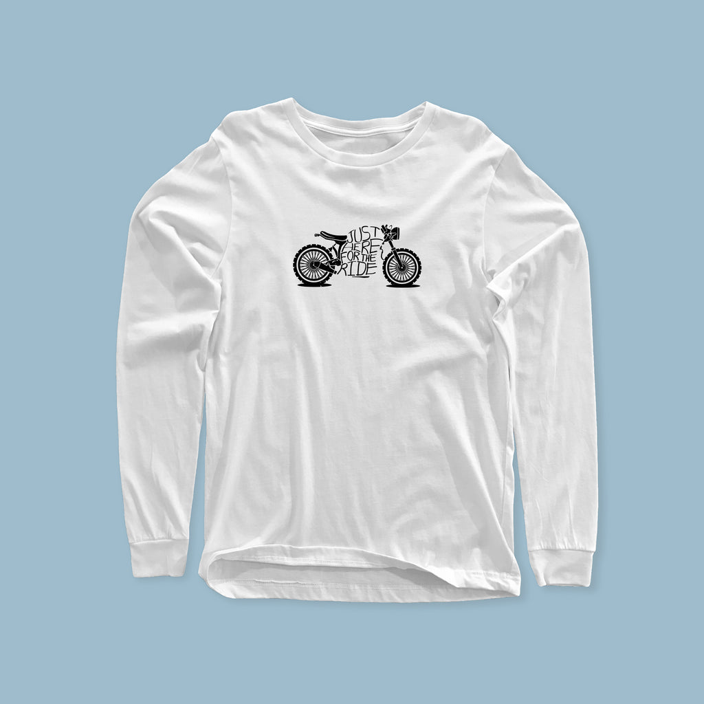 Here For The Ride - Long sleeve Heavyweight T-shirt