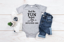 Load image into Gallery viewer, And The Fun Begins Infant Bodysuit