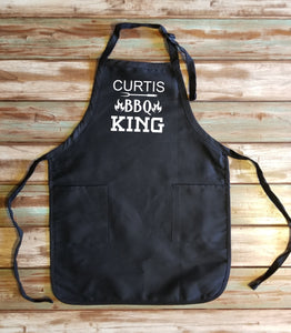 Personalized BBQ King Apron