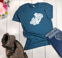 Load image into Gallery viewer, Floral Bunny T-Shirt