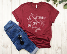 Load image into Gallery viewer, I'm a Sunshine & Flip Flops Kinda Girl T-Shirt